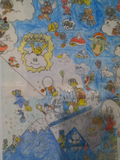A sketch for Music & Artwork for December 2011. Drawn by YoshiGo99 (talk)