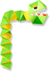 Artwork of Snakey from Yoshi's Crafted World