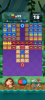 Stage 349 from Dr. Mario World