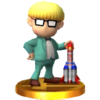 Jeff trophy from Super Smash Bros. for Nintendo 3DS