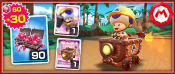The Builder Toad Pack from the Mario vs. Luigi Tour in Mario Kart Tour