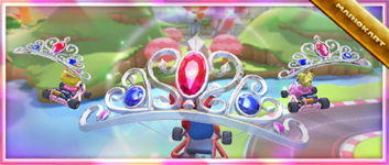 """The """"Celebrate the Wedding Tour with the Glinting Glider!"""" Pack from the Wedding Tour in Mario Kart Tour"""