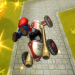 Mario performing a Trick in Mario Kart Wii