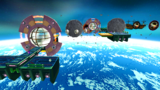 """A screenshot of Bowser Jr.'s Fearsome Fleet during the """"Bowser Jr.'s Mighty Megahammer"""" mission from Super Mario Galaxy 2."""