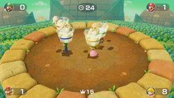 Snack Attack minigame from Super Mario Party