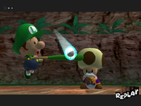 A replay where Toadsworth is visible in Mario Superstar Baseball