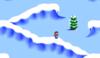 Mario in the level Ice Mountain 1.