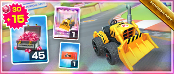 The Dozer Dasher Pack from the Exploration Tour in Mario Kart Tour