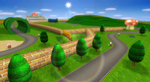 View of Mario Raceway in Mario Kart Wii