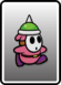 A Pink Spike Guy card from Paper Mario: Color Splash