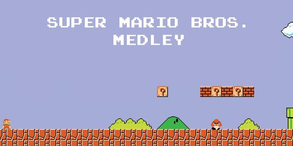 Presentation banner for a Super Mario Bros. soundtrack medley that played on Dancing with the Stars