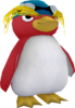 Rendered model of the leading Penguin Racer character from Sea Slide Galaxy in Super Mario Galaxy. The yellow plumage above his eyes is reminiscent of a rockhopper penguin.