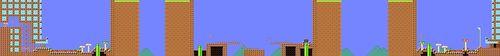 Course layout of Walkin' with Undodog in Super Mario Maker.