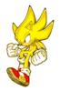 A Sticker of Super Sonic in Super Smash Bros. Brawl.