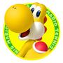 Yellow Yoshi's tennis icon
