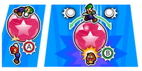 Illustration of the Super Bouncer Special Attack from Mario & Luigi: Bowser's Inside Story + Bowser Jr.'s Journey
