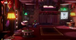 The False Bedroom in the Twisted Suites in Luigi's Mansion 3