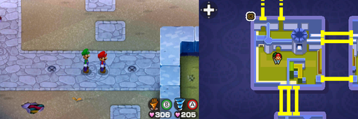Location of the eighth and ninth beanholes in Peach's Castle.
