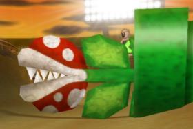 A Mecha Piranha Plant from Mario Kart Wii