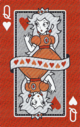 The Queen of Hearts card from the NAP-06 deck.