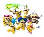 Artwork of the Koopalings holding their magic wands, from New Super Mario Bros. Wii