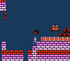 Screenshot of Clawgrip from Super Mario Bros. 2