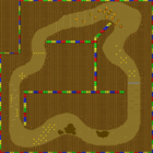 The map for Choco Island 1.