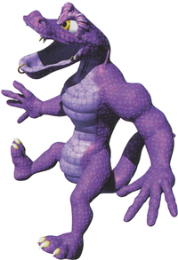 Artwork of a Skidda from Donkey Kong Country 3: Dixie Kong's Double Trouble!
