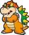 Bowser as he appears on Super Paper Marios North American box art