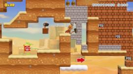A NintendoJP level with Builder Mario.