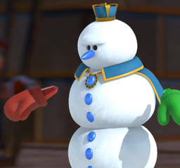 The Snow King from Mario Golf: Super Rush