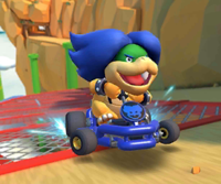 The icon of the Metal Mario Cup challenge from the Berlin Tour in Mario Kart Tour.