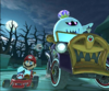 The icon of the King Boo Cup challenge from the 2019 Halloween Tour and the Pauline Cup challenge from the 2020 Halloween Tour in Mario Kart Tour