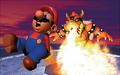 Mario and Bowser Fire Artwork - Super Mario 64.png