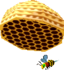 In-game render of a Bee and Beehive in Super Mario Sunshine.