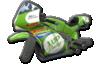 Green Varnish Version of Sport Bike.