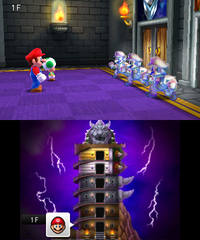 Bowser's Tower in Mario Party: Island Tour.