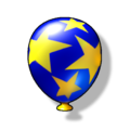 Artwork of a blue Item Balloon from Diddy Kong Racing DS