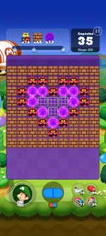 Stage 258 from Dr. Mario World