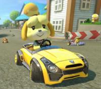 Isabelle, in Mario Kart 8.