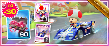 The Decal Streamliner Pack from the 2021 Los Angeles Tour in Mario Kart Tour