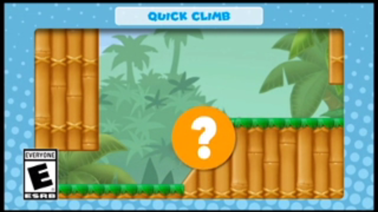 A frame of the video shown with the fourth question in Mini Mario & Friends: amiibo Challenge Trivia Quiz
