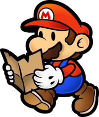 Artwork of Mario from Paper Mario: The Thousand-Year Door