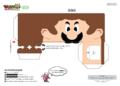 NKS Papercraft Luigi Printable 1.png