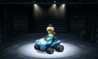 Rosalina, using the Birthday Girl, equipped with the Slick tires.
