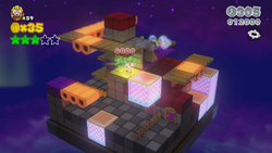 Captain Toad Plays Peek-a-Boo from World 5 in Super Mario 3D World.