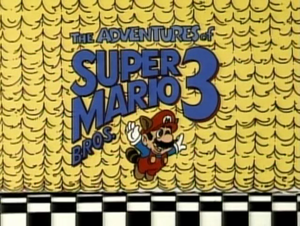 The title card for The Adventures of Super Mario Bros. 3