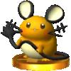 Trophy of Dedenne in Super Smash Bros. for Nintendo 3DS.