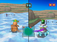 Flag Competition in Super Duel Mode from Mario Party 5