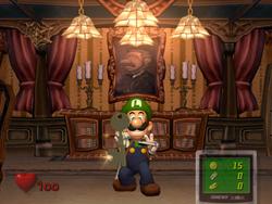 Luigi getting the key to the Anteroom